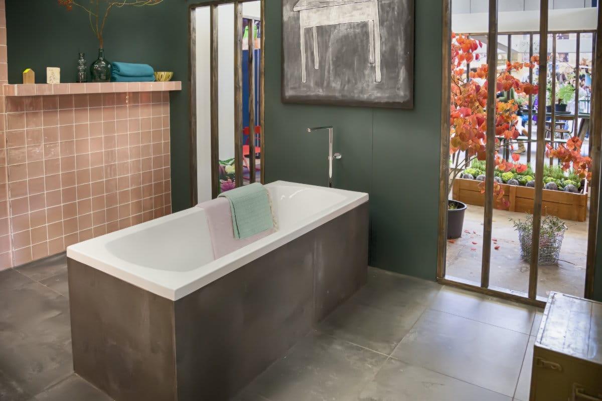 salle de bain beton